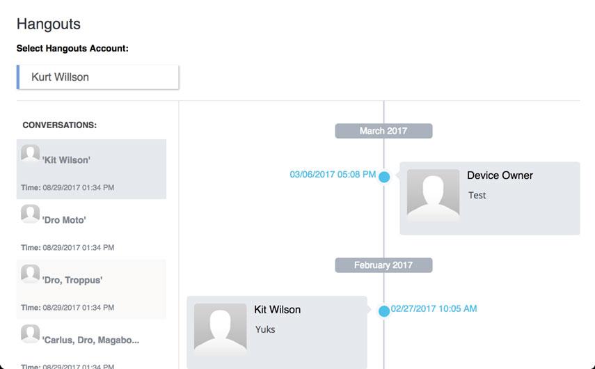 Hangouts Messages Spy App