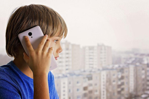 How can I check my son's phone call history?