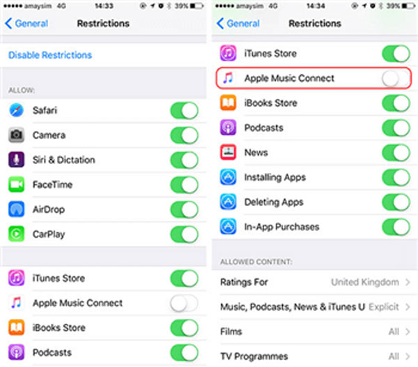 block apps on iPad using iOS restrictions