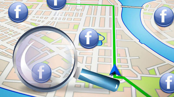 find nearby friends on Facebook