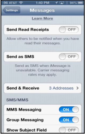 track iphone text message using imessage