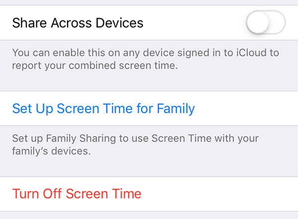 How to disable parental controls in iOS 12